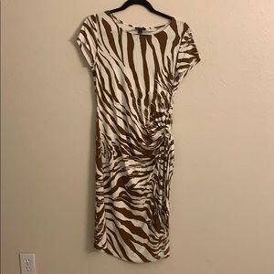 Lafayette 148 New York zebra side tie dress